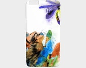 Cell Phone Case Cat 610 watercolor flower - Iphone 7, 6/6s Plus, 5/5s, Samsung Galaxy S7 S6 Edge S5, S4, S3 art by L.Dumas