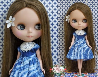Shibori Dress  for Blythe