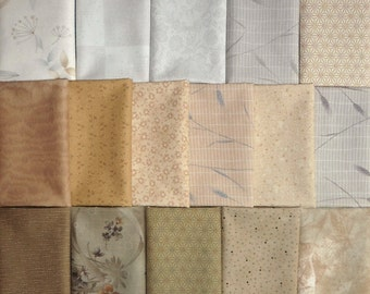 Japanese cotton prints - 16 Diawabo, Lecien and Sevenberry light fat eighths