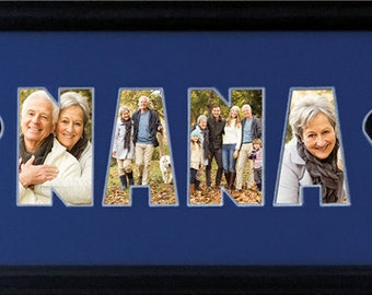 NANA with hearts clipart Photo Collage (mat only) 8 x 20