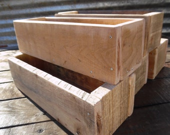 """5 ~ 12"""" Rustic Centerpiece Boxes Reclaimed Wood Succulent Planter Boxes Mason Jar Centerpiece Wedding Centerpiece Planter Party Centerpieces"""