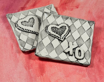 Heart Valentine Tray - Trinket Tray - Ring Dish - Handmade
