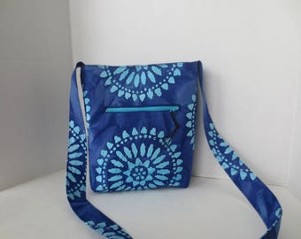 Batik Cross Body Bag - Front Zip Cross body bag - Gypsy Bag