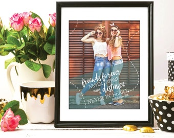 Best Friend Birthday Gift, Best Friend Gift, Gift for Best Friend, Long Distant Friends, Special print featuring your photo / H-Q82-1PS QQ5