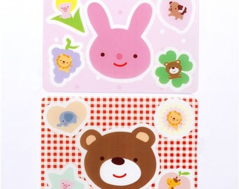 172650 kawaii animal food stencils for Bentos with rabbit bear