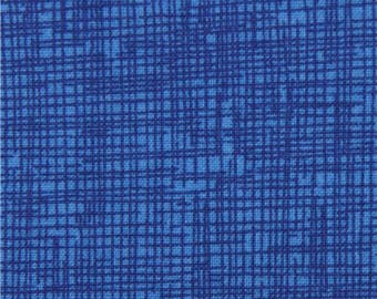 200043 royal blue grid pattern sketch fabric Timeless Treasures