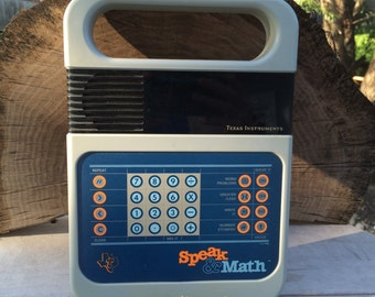 Speak & Math vintage learning toy