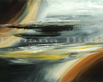 Outer space galaxy universe abstract art giclee print on CANVAS of original painting PARALLELS by Tatiana Iliina