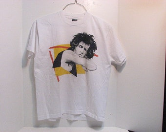 Vintage 1980s Keith Richards Rock & Roll Promo T-Shirt Slayton 1982 Rolling Stones