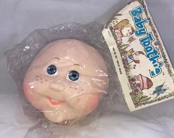 Vintage Baby Toothie Bald Doll Head 4 1/2""
