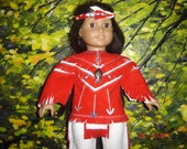 RESERVED   boys indian costume  100 beads  fits american girl   ORIGINAL design ooakby granmafran