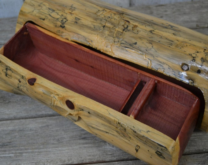 Extra Large Aromatic Cedar Jewelry Box, Band Saw Box Hidden Drawer, Hidden Drawer, Gifts for Him, Wood Carvers of Etsy 1527