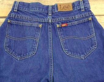 Vintage Lee Mom Jeans High Waisted Tapered Size 10 Womens Western Wear Country