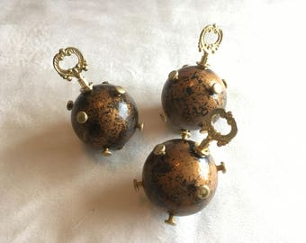 Steampunk hand grenade props set of 3