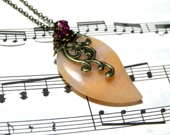 Peach Pendant Aventurine Pendant Jewelry for Women Top Selling Jewelry Most Popular Jewelry