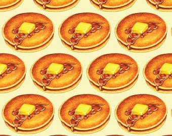 Pancake Breakfast Fabric - Pancake By Kellygilleran - Retro Kitchen Decor Cotton Fabric By The Yard With Spoonflower