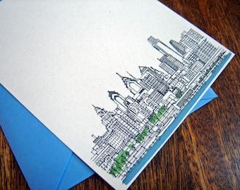 Philadelphia Skyline Noteflat Cards set of 12 - READY TO SHIP