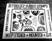 NEW Stamp Set Z115 - Bumpy Border Stamps
