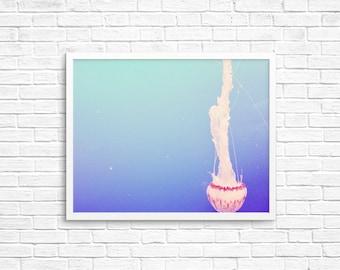 BUY 2 GET 1 FREE Jellyfish Photo, Rainbow Colours, Aquarium Photo, Home Decor, Sea Creatures, California Photography, Fine Art Print