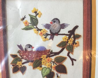 Crewel Picture Kit Birds and Bees