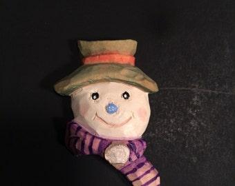 Snowman whimsical pen