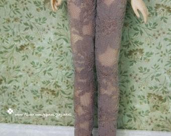 Jiajiadoll- camel lace flowered legging fits momoko Misaki Dorandoran obitsu fashion royalty ruruko