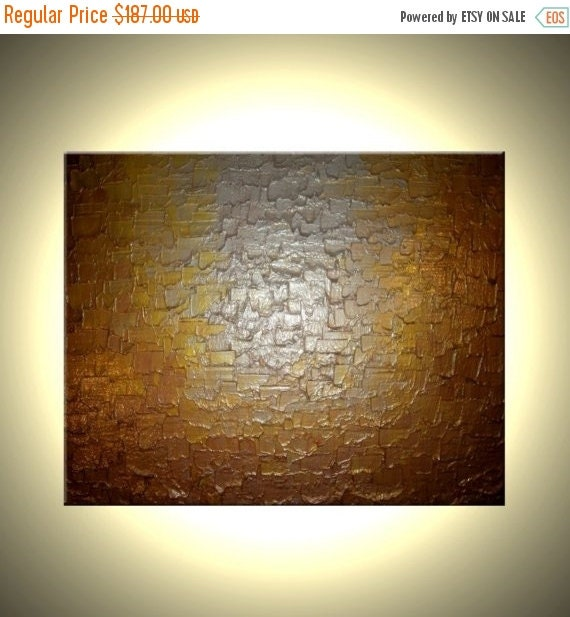 Abstract Gold Silver Painting Sale 22% Off