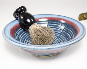Bowl Shaving - Large Wetshave Ceramic Bowl - Wet Shaving Dish - Shaving Soap Bowl - Wet Shave Pottery - Shaving Bowl - Clay Shave - In Stock