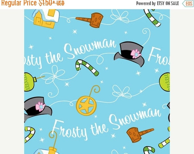 On Sale Frosty The Snowman Silly Snowman Holiday Christmas Fabric