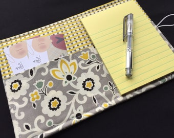 Mini List Taker, Organizer, Coupon Holder, Tapestry Floral by Denyse Schmidt, Notepad And Pen/Pencil Included