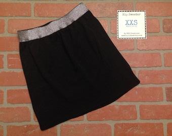 XXS Hip Sweater in Sparkly Black