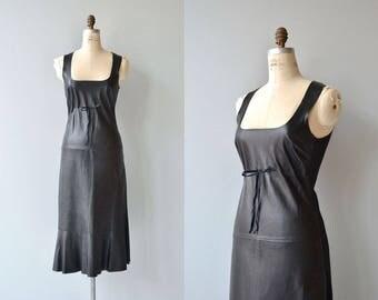 Nova leather dress | vintage black leather dress | black jumper dress