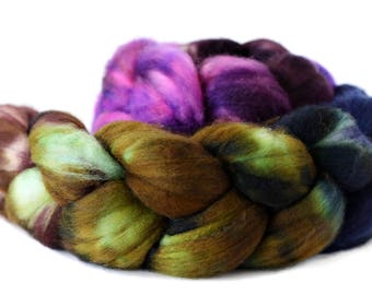 Enchanted Valley 4 oz Merino softest 19.5 micron Roving Top for spinning