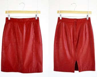 CHIA Brand 90's Vintage Red Hot High Waist Woman's Retro Mini Skirt