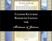 "RESERVE LISTING - Briana & Jairus - ""Love in Bloom Blue"" 18""x24"" Signed Ketubah Print"