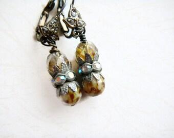Romantic Czech Glass Earrings