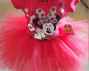 New Minnie mouse tutu set size 4T