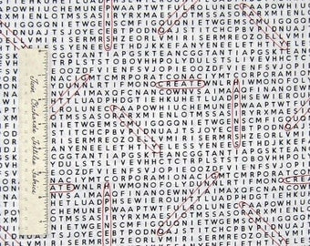 Timeless Treasures Fabric - Geek Chic News Word Search Black & White YARDS