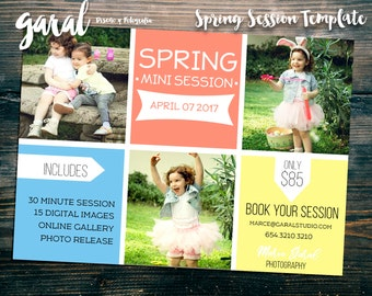 Easter Mini Session Template, Easter Mini Sessions, Easter Marketing Board, Easter Photoshop, Photography Marketing, Spring