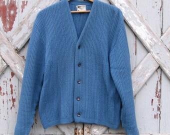Vintage 1970s Allen A cardigan sweater M L