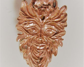 The Green Man Pendant solid sterling silver 925