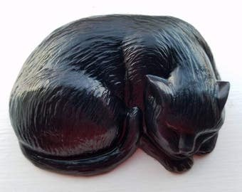 Black Cat Soap, Sculpture Style, 20% Dedicated to Cat Causes