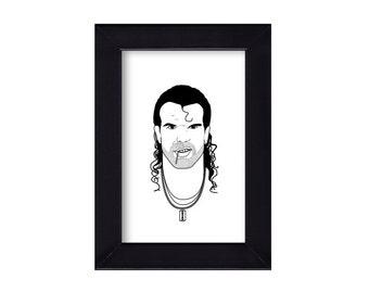 4 x 6 Framed Razor Ramon / Scott Hall WWF Portrait