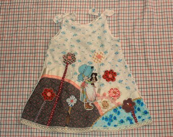 holly in the garden pinafore sized for 6yr