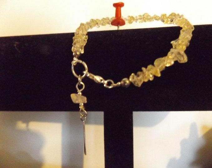Citrine Crystal Bracelet, Citrine Quartz Crystal, Crystal Bracelet, Mystical Jewelry, Chakra Crystal, Spiritual Jewelry