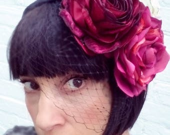 Summer rose garden flower headpiece