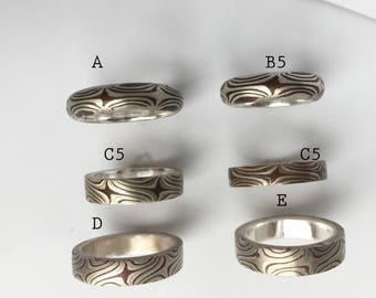 Special Pair of Mokume wedding bands