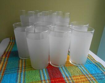 Frosted Libbey Glasses - Tom Collins - Vintage Glassware - Vintage Barware