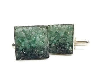 Emerald Cuff Links - Mosaic