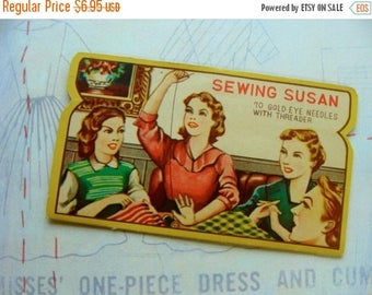 ON SALE Antique Used Needle Sewing Book N0124